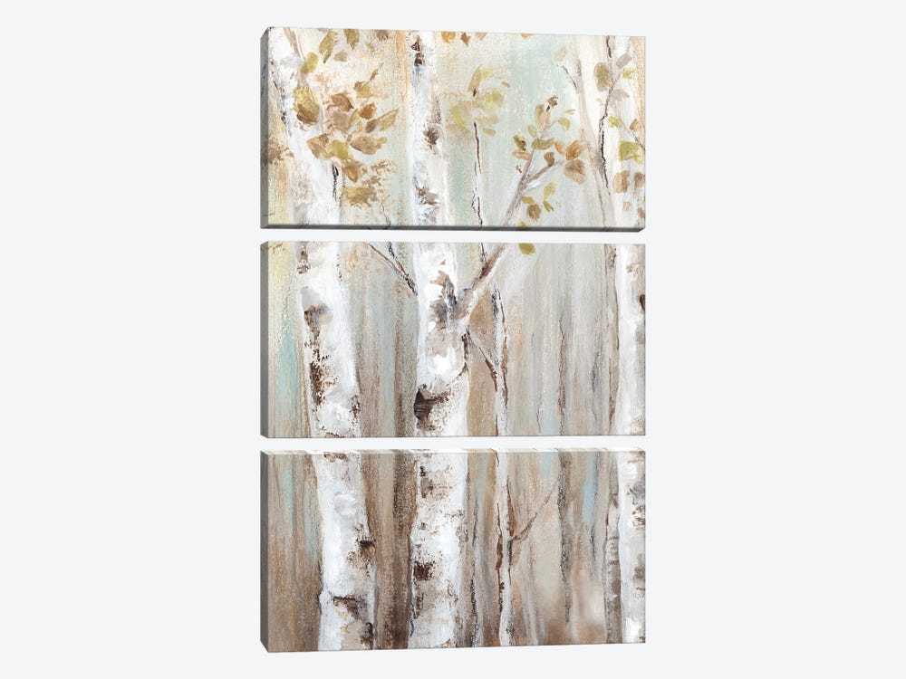 Sunset Birch Forest I  by Eva Watts 3-piece Canvas Artwork