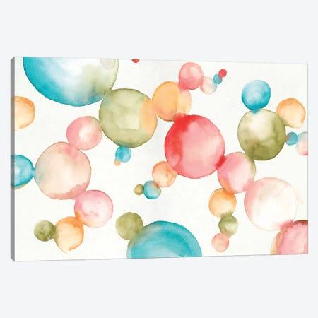 Bubblegum Balloons  Canvas Print #EWA144} by Eva Watts Canvas Art Print