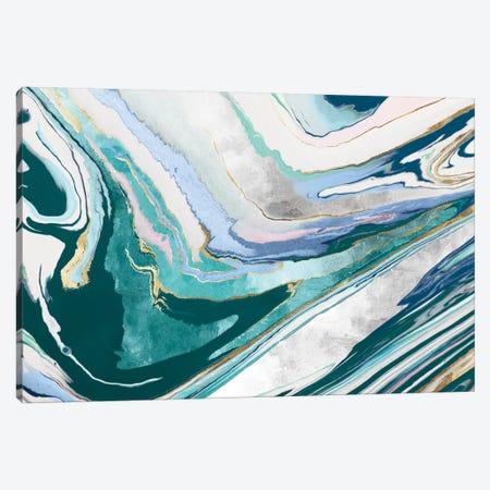 Marble Petroleum I  Canvas Print #EWA147} by Eva Watts Art Print