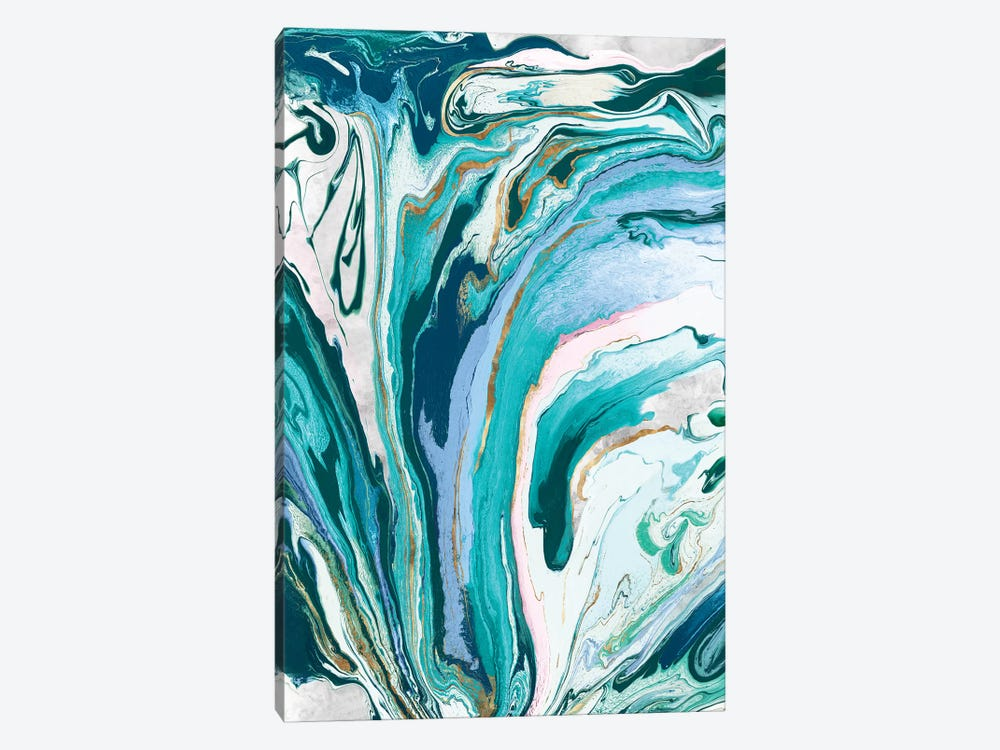 Marble Petroleum III  by Eva Watts 1-piece Canvas Print