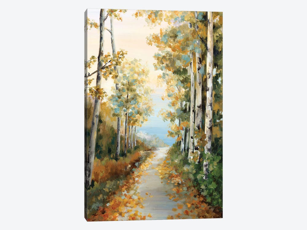 Path in the Forest  by Eva Watts 1-piece Art Print