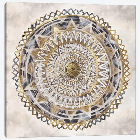 Golden Medallion  Canvas Print #EWA154} by Eva Watts Canvas Artwork