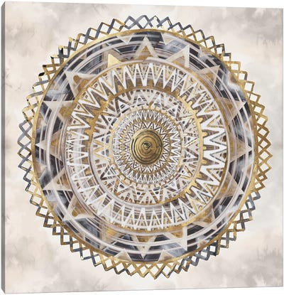 Golden Medallion  Canvas Art Print
