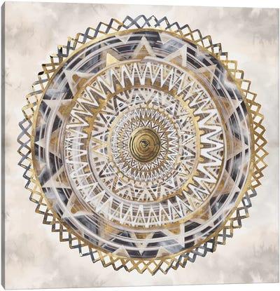 Golden Medallion  Canvas Art Print