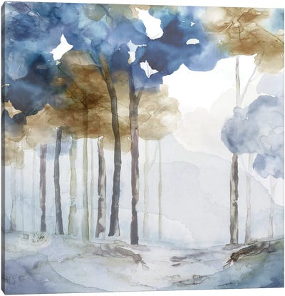In the Blue Forest I  Canvas Art Print