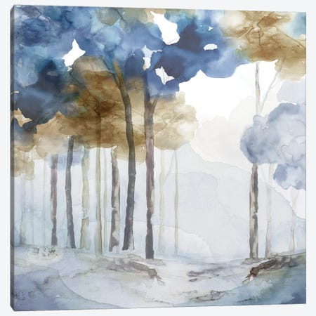 In the Blue Forest I  3-Piece Canvas #EWA155} by Eva Watts Canvas Artwork