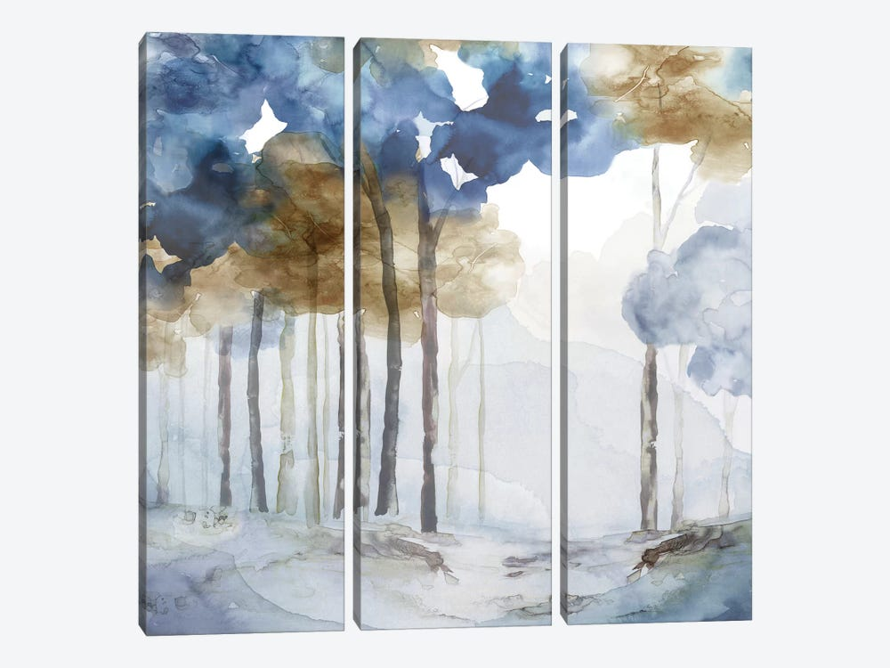 In the Blue Forest I  by Eva Watts 3-piece Canvas Artwork
