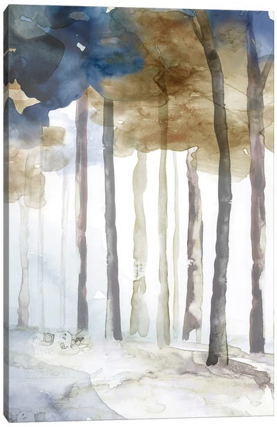 In the Blue Forest II  Canvas Art Print