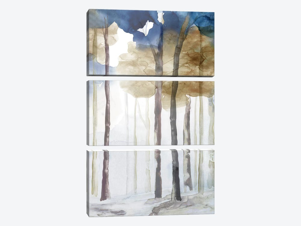 In the Blue Forest III  by Eva Watts 3-piece Canvas Artwork
