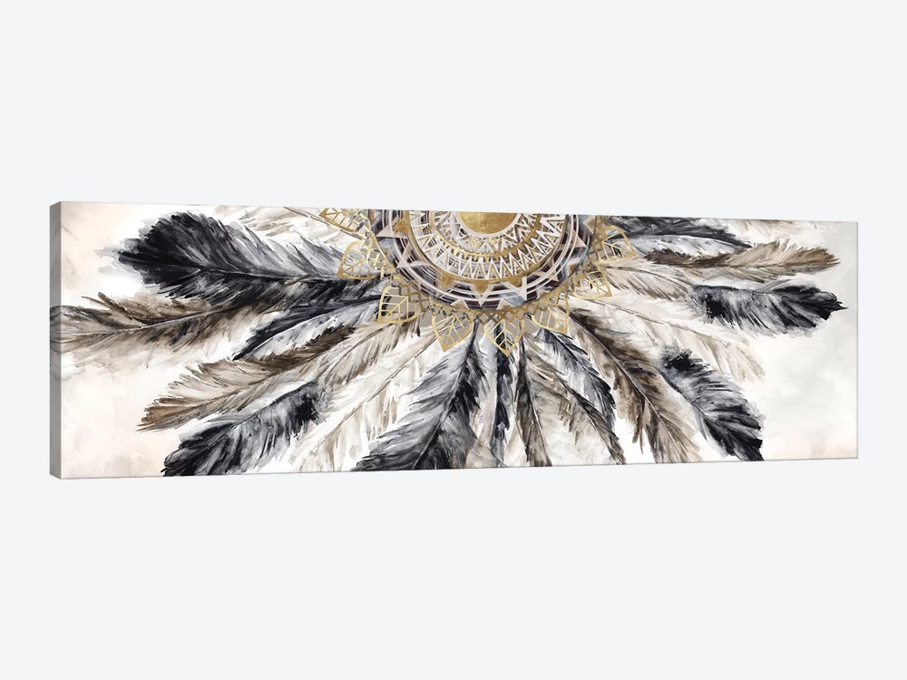 Necklace of Feathers I  by Eva Watts 1-piece Canvas Print