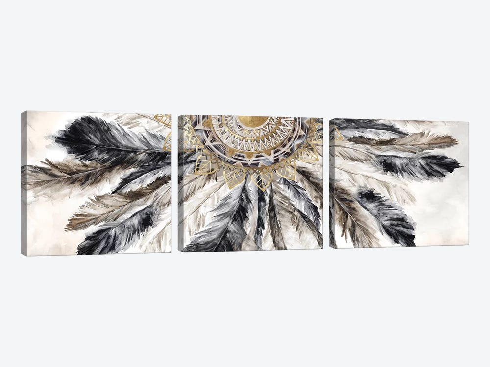 Necklace of Feathers I  by Eva Watts 3-piece Art Print