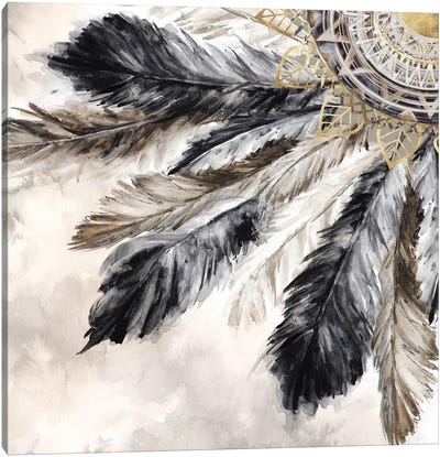 Necklace of Feathers II  Canvas Art Print