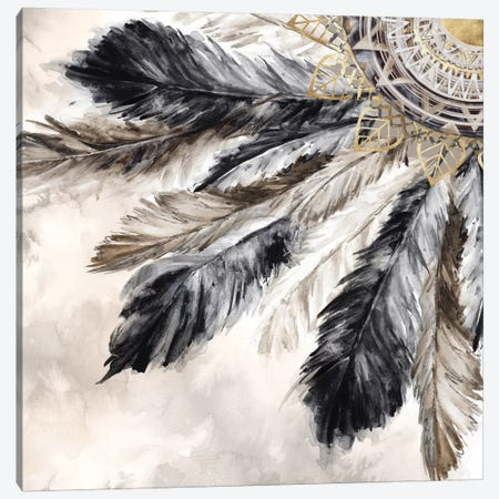 Necklace of Feathers II  Canvas Print #EWA159} by Eva Watts Canvas Print