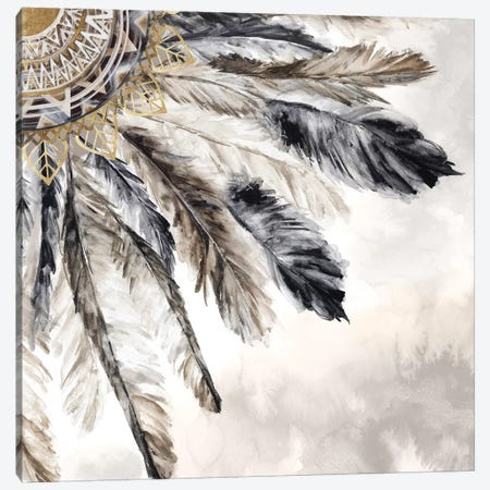 Necklace of Feathers III  Canvas Print #EWA160} by Eva Watts Canvas Artwork
