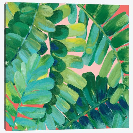 Leaf Race  Canvas Print #EWA188} by Eva Watts Canvas Artwork
