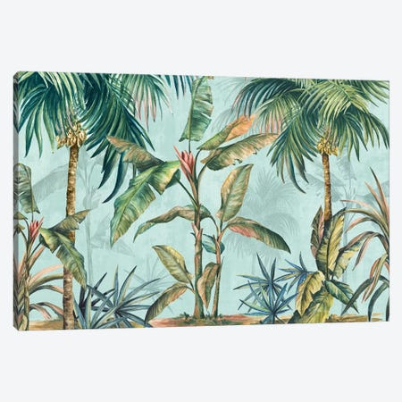Lushed Palms  Canvas Print #EWA191} by Eva Watts Canvas Print
