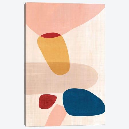 Pink Pebbles I  Canvas Print #EWA196} by Eva Watts Canvas Art