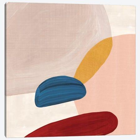Pink Pebbles II  Canvas Print #EWA197} by Eva Watts Canvas Artwork