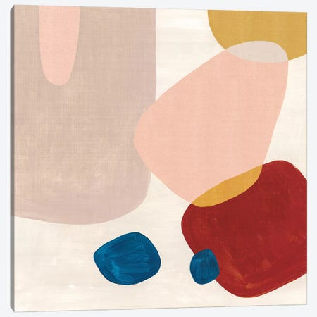 Pink Pebbles III  Canvas Print #EWA198} by Eva Watts Canvas Print