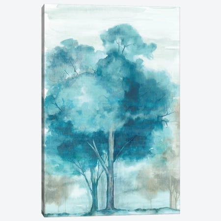 Song of the Trees Indigo Version  Canvas Print #EWA200} by Eva Watts Canvas Print