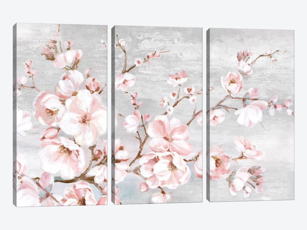 Spring Cherry Blossoms I  by Eva Watts 3-piece Art Print