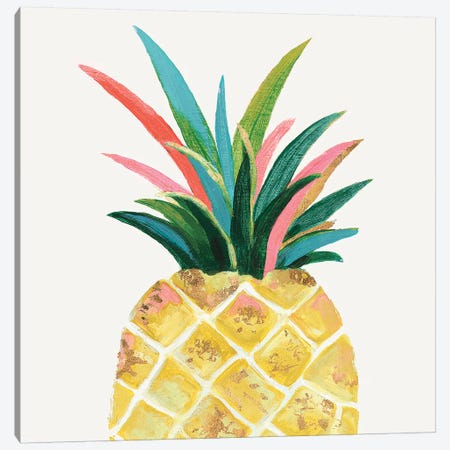 Yellow Catalyst  Canvas Print #EWA224} by Eva Watts Canvas Wall Art