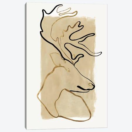 Antlers I  Canvas Print #EWA227} by Eva Watts Canvas Art