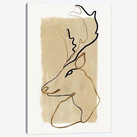 Antlers II   Canvas Print #EWA228} by Eva Watts Canvas Print