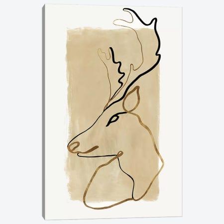 Antlers II   Canvas Print #EWA228} by Eva Watts Canvas Print