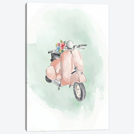 Coral Bike Canvas Print #EWA235} by Eva Watts Canvas Print