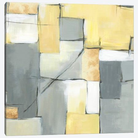 Golden Abstract I Canvas Print #EWA24} by Eva Watts Art Print