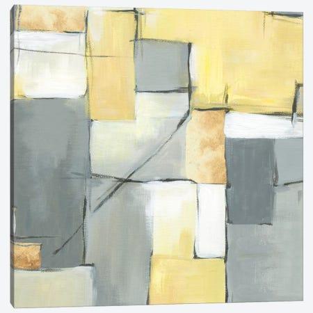 Golden Abstract I Canvas Print #EWA24} by Eva Watts Art Print