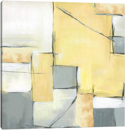 Golden Abstract II Canvas Art Print