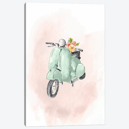 Green Bike Canvas Print #EWA261} by Eva Watts Canvas Print