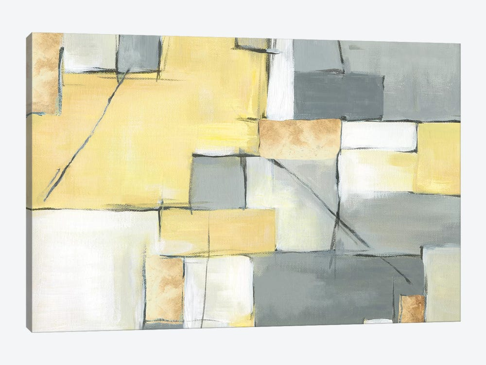 Golden Abstract III by Eva Watts 1-piece Canvas Print