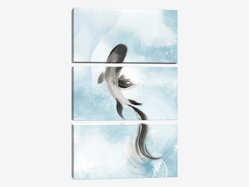 Swimming Carp I  by Eva Watts 3-piece Canvas Print
