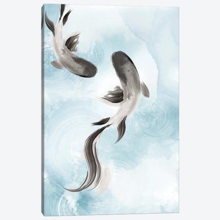 Swimming Carp II  Canvas Print #EWA293} by Eva Watts Canvas Art