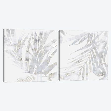 Faded Leaves Diptych Canvas Print Set #EWA2HSET001} by Eva Watts Art Print
