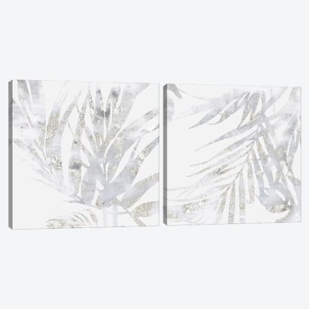 Faded Leaves Diptych Canvas Print Set #EWA2HSET001} by Eva Watts Art Print