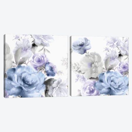 Light Floral Diptych Canvas Print Set #EWA2HSET003} by Eva Watts Canvas Print