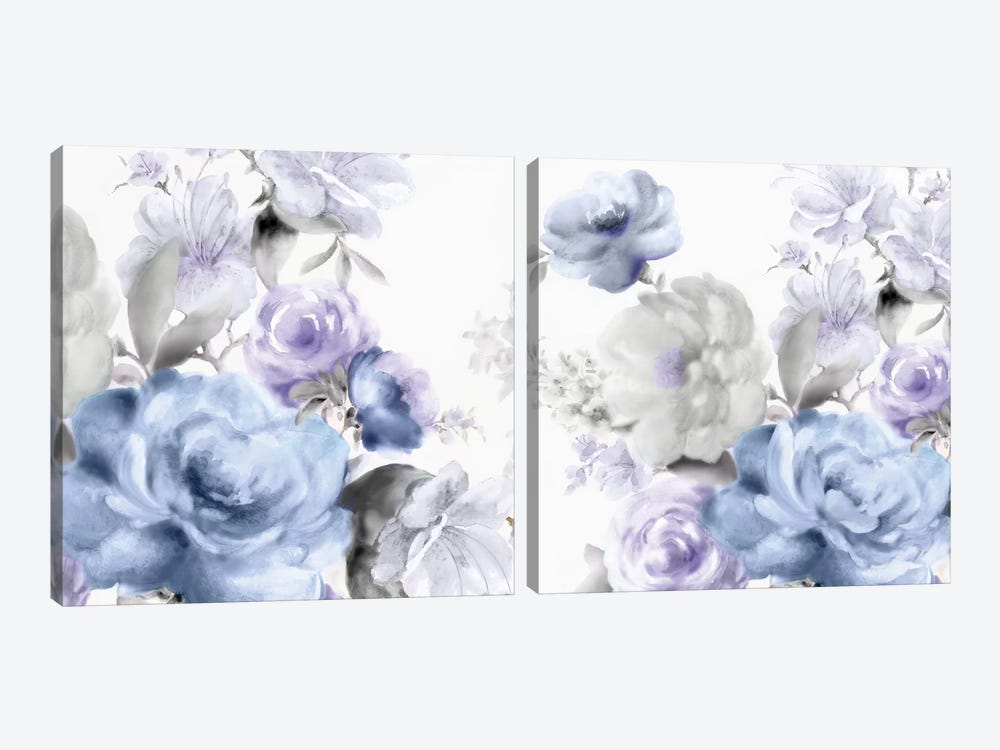 Light Floral Diptych by Eva Watts 2-piece Canvas Artwork