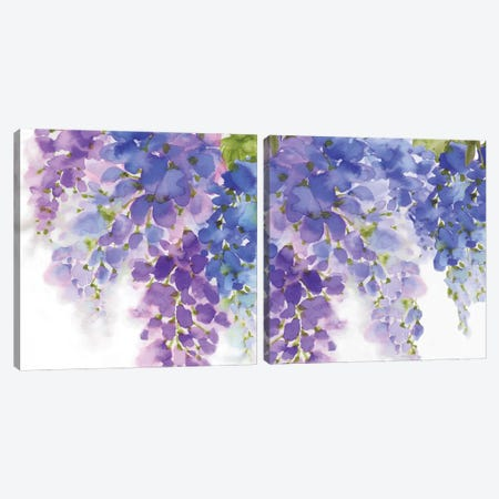 Wisteria Diptych Canvas Print Set #EWA2HSET004} by Eva Watts Canvas Wall Art