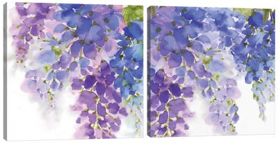 Wisteria Diptych Canvas Art Print