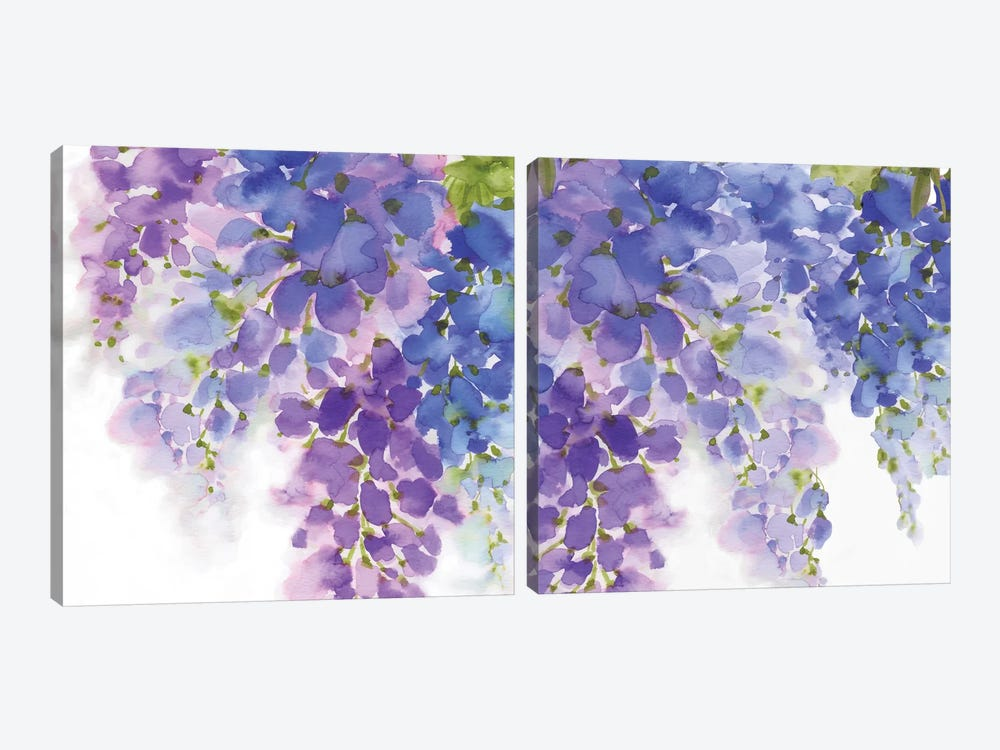 Wisteria Diptych by Eva Watts 2-piece Canvas Art Print