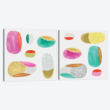 Color Combo Diptych Canvas Print Set #EWA2HSET005} by Eva Watts Canvas Artwork