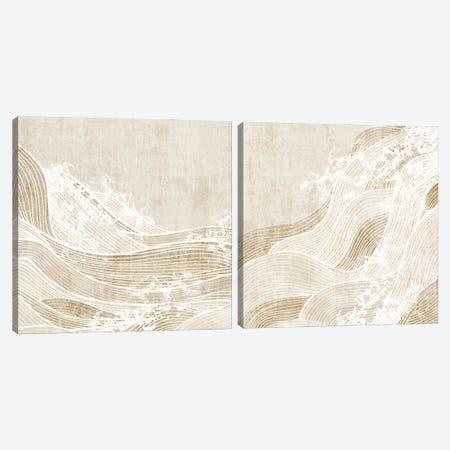 Tidal Waves Diptych  Canvas Print Set #EWA2HSET009} by Eva Watts Canvas Art Print