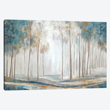 White Rays Canvas Print #EWA306} by Eva Watts Art Print