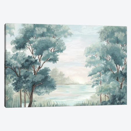 Calm Forest River Canvas Print #EWA311} by Eva Watts Canvas Art Print