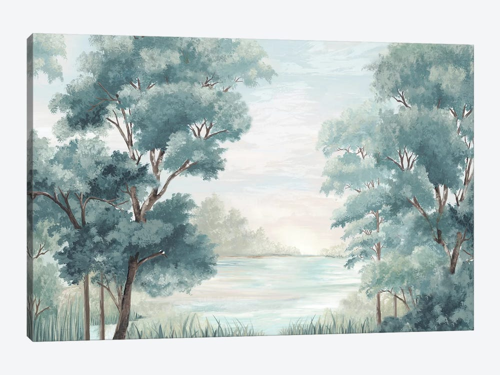 Calm Forest River by Eva Watts 1-piece Canvas Print