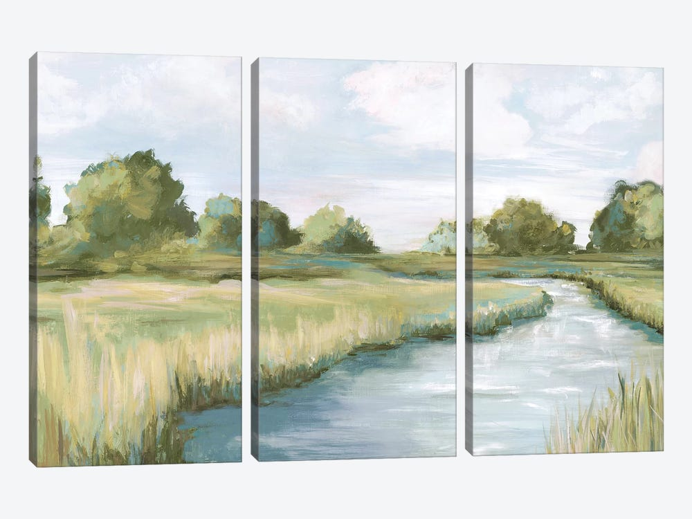Country River by Eva Watts 3-piece Canvas Art Print